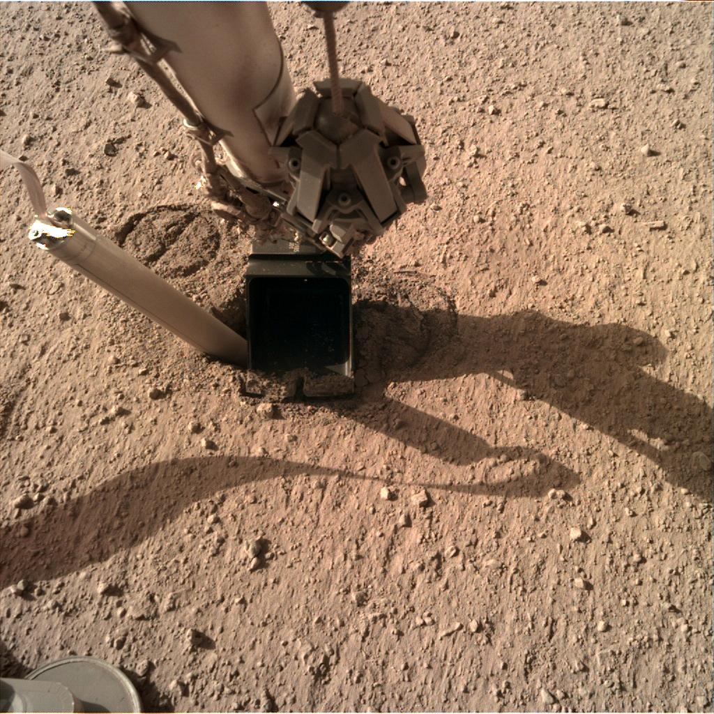 Nasa's Mars lander InSight acquired this image using its Instrument Deployment Camera on Sol 330