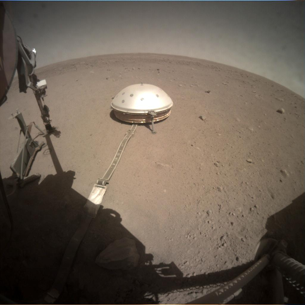 Nasa's Mars lander InSight acquired this image using its Instrument Context Camera on Sol 332