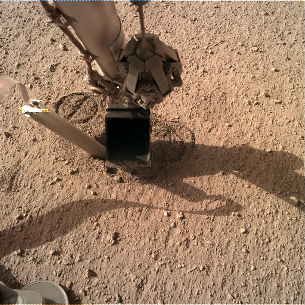 Nasa's Mars lander InSight acquired this image using its Instrument Deployment Camera on Sol 336