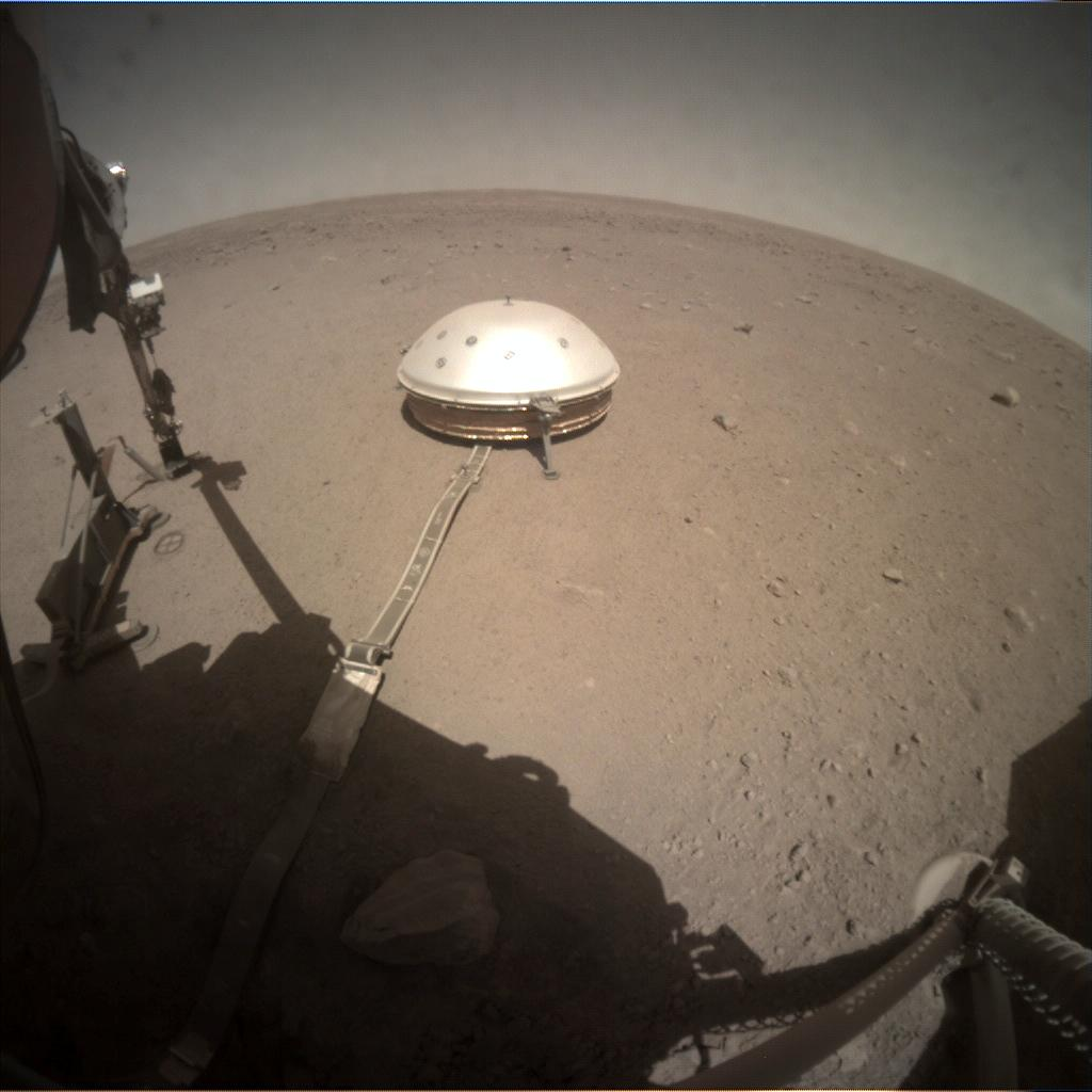 Nasa's Mars lander InSight acquired this image using its Instrument Context Camera on Sol 337