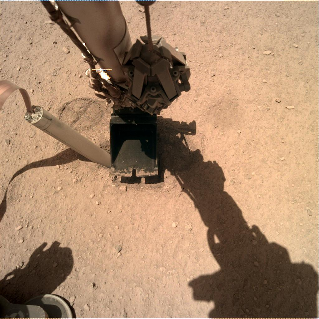 Nasa's Mars lander InSight acquired this image using its Instrument Deployment Camera on Sol 339