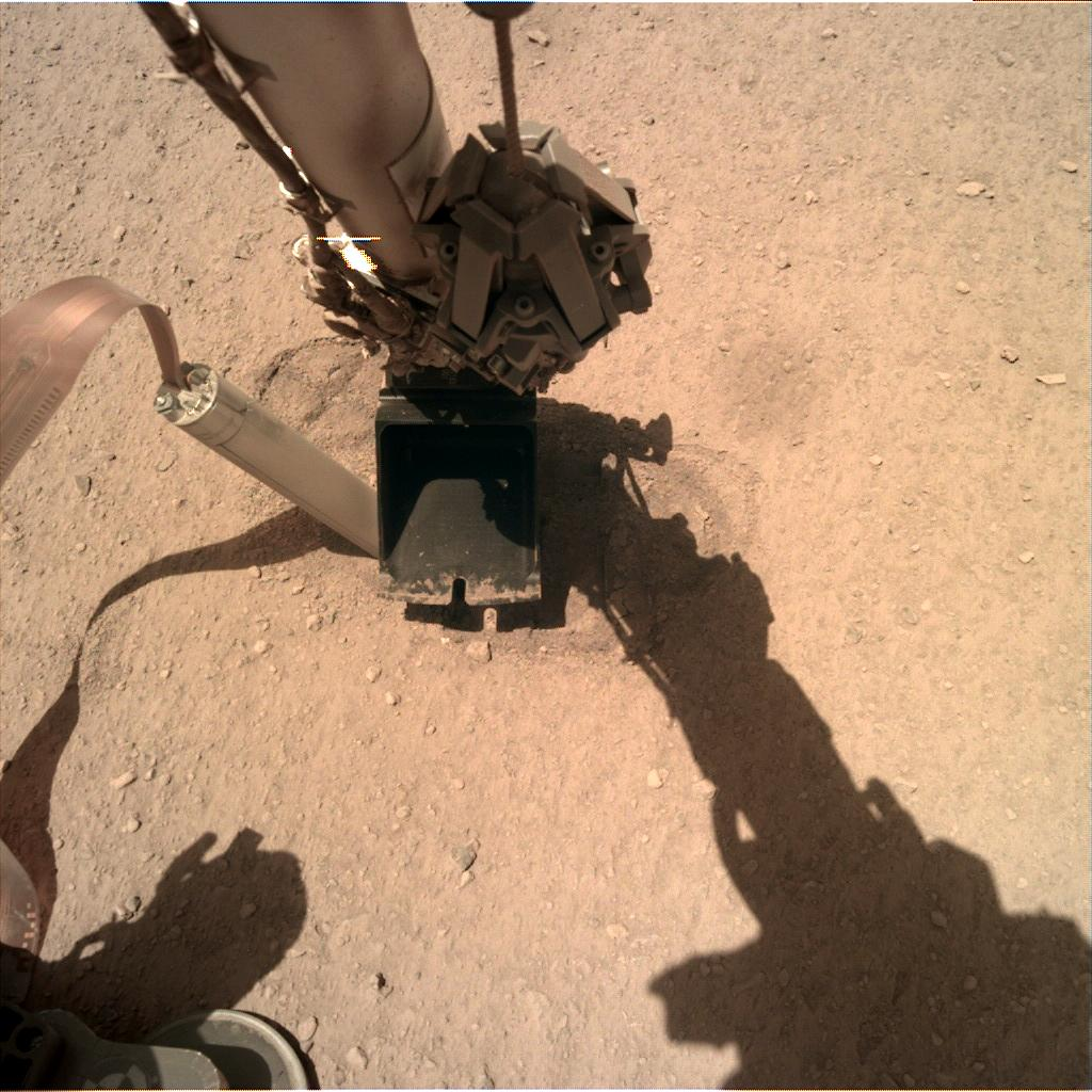 Nasa's Mars lander InSight acquired this image using its Instrument Deployment Camera on Sol 342