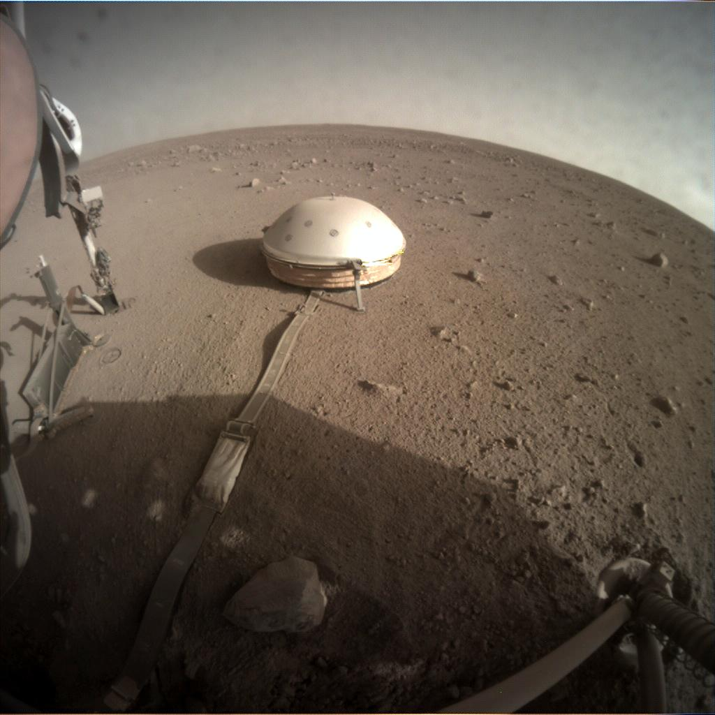 Nasa's Mars lander InSight acquired this image using its Instrument Context Camera on Sol 343