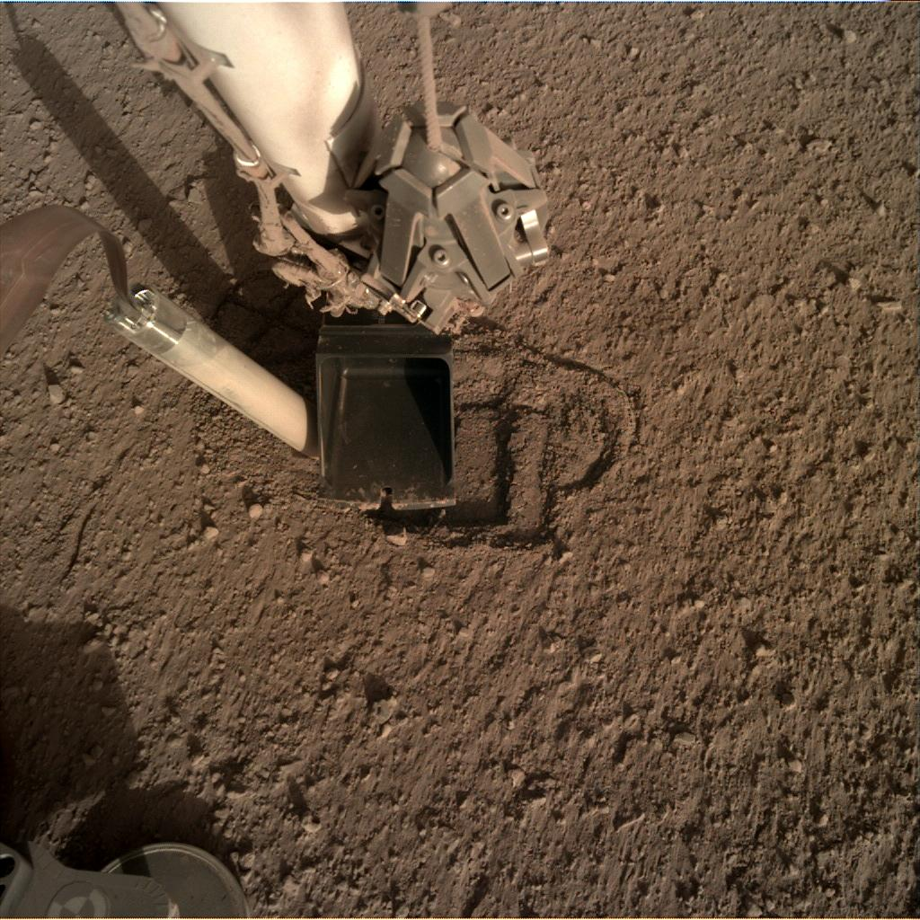 Nasa's Mars lander InSight acquired this image using its Instrument Deployment Camera on Sol 346