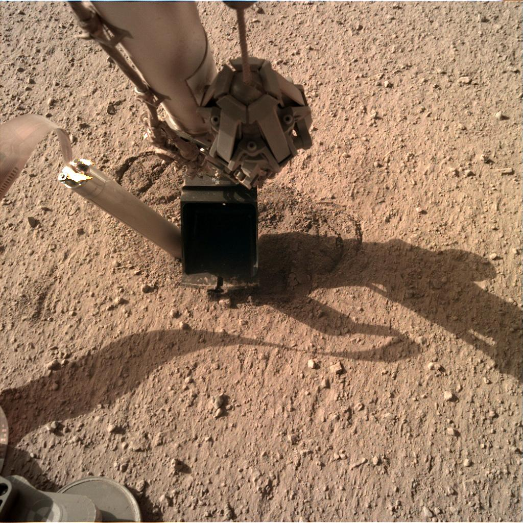 Nasa's Mars lander InSight acquired this image using its Instrument Deployment Camera on Sol 347