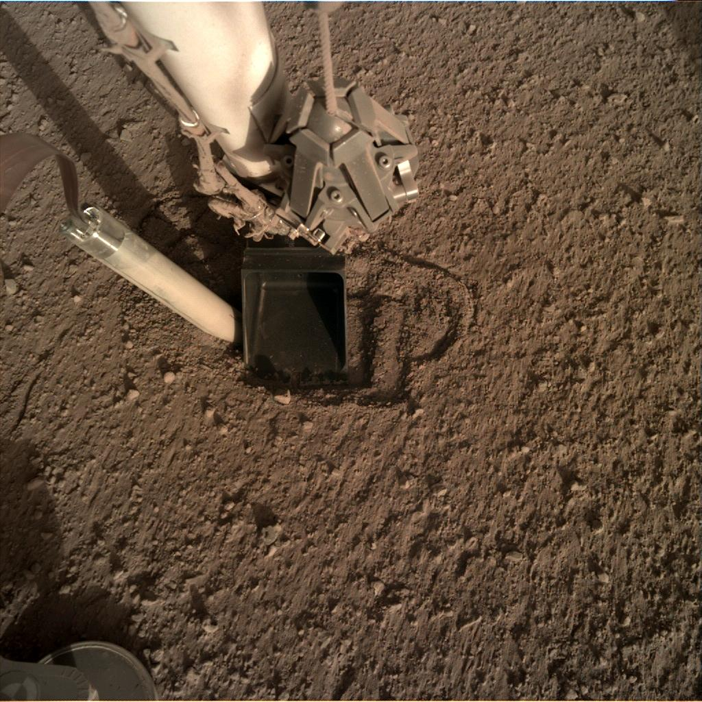 Nasa's Mars lander InSight acquired this image using its Instrument Deployment Camera on Sol 349