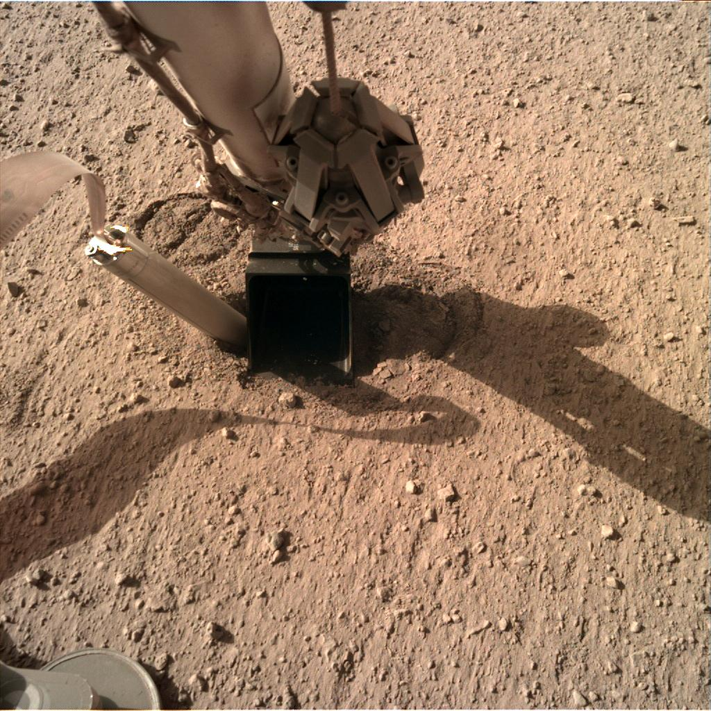 Nasa's Mars lander InSight acquired this image using its Instrument Deployment Camera on Sol 350