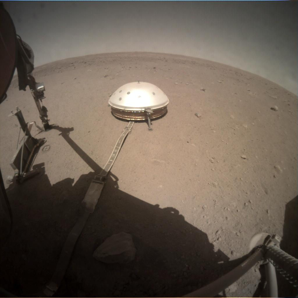 Nasa's Mars lander InSight acquired this image using its Instrument Context Camera on Sol 352