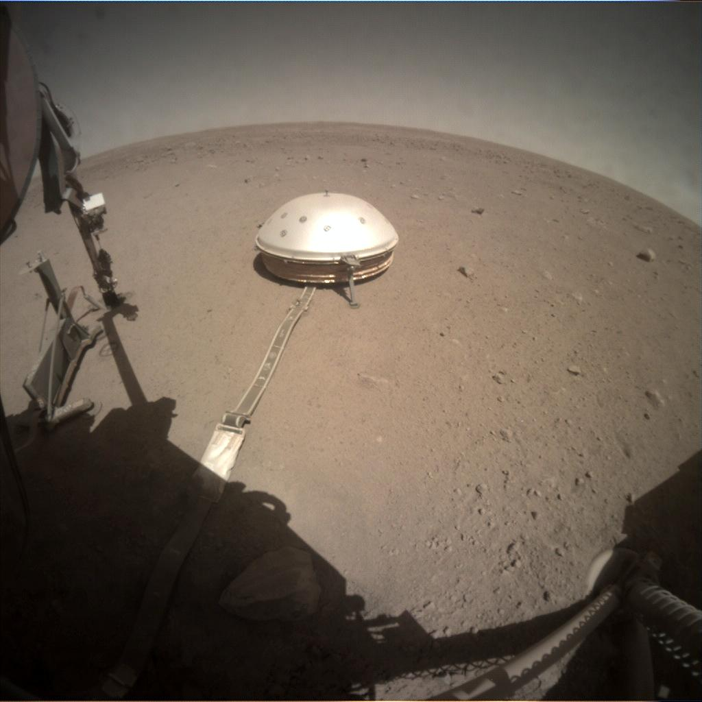 Nasa's Mars lander InSight acquired this image using its Instrument Context Camera on Sol 353