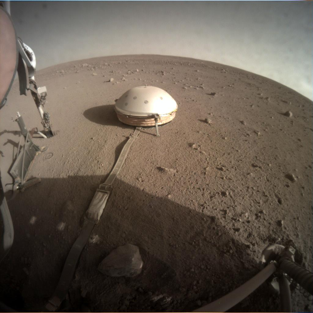 Nasa's Mars lander InSight acquired this image using its Instrument Context Camera on Sol 355