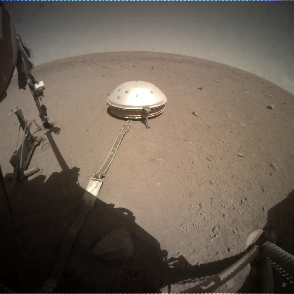 Nasa's Mars lander InSight acquired this image using its Instrument Context Camera on Sol 356