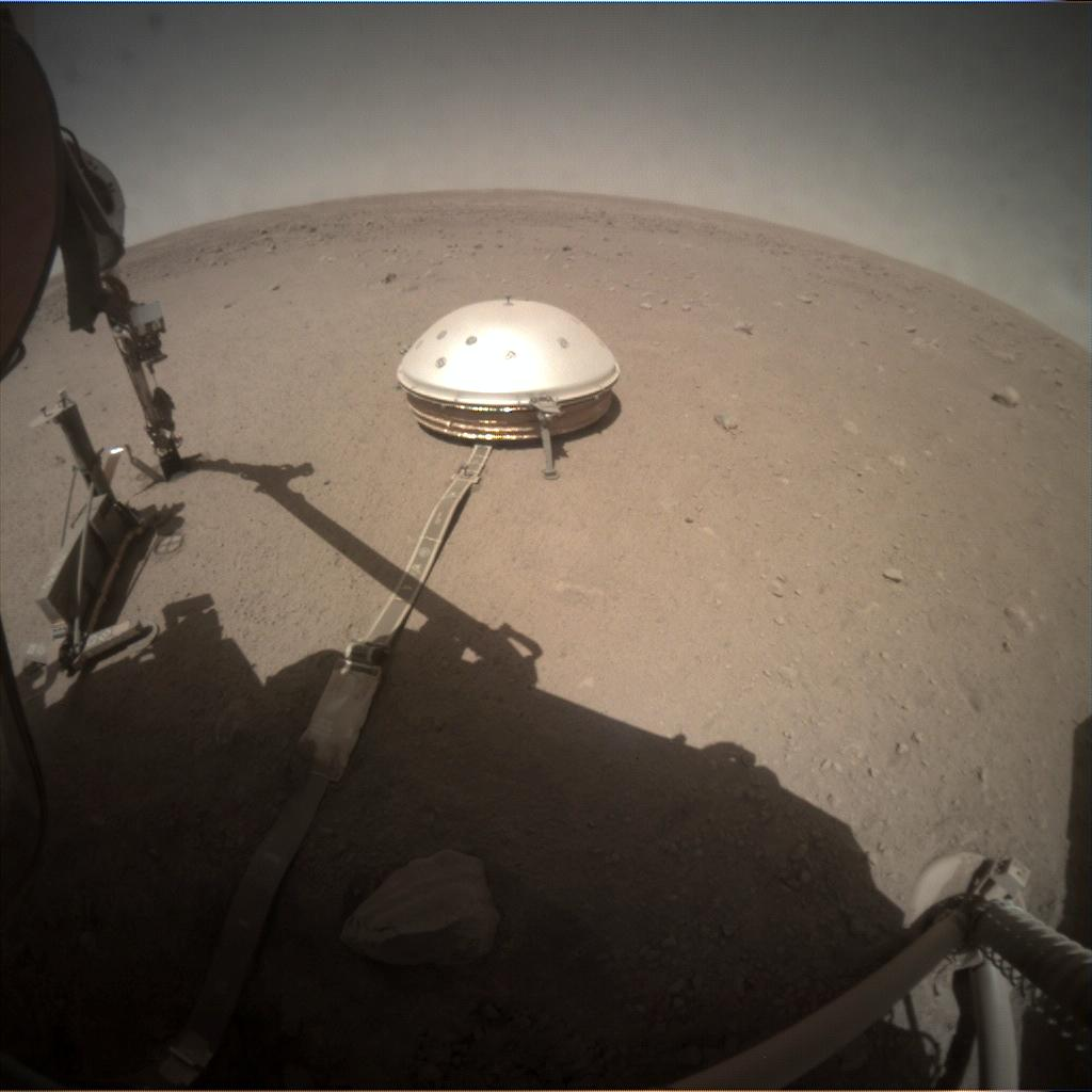 Nasa's Mars lander InSight acquired this image using its Instrument Context Camera on Sol 357