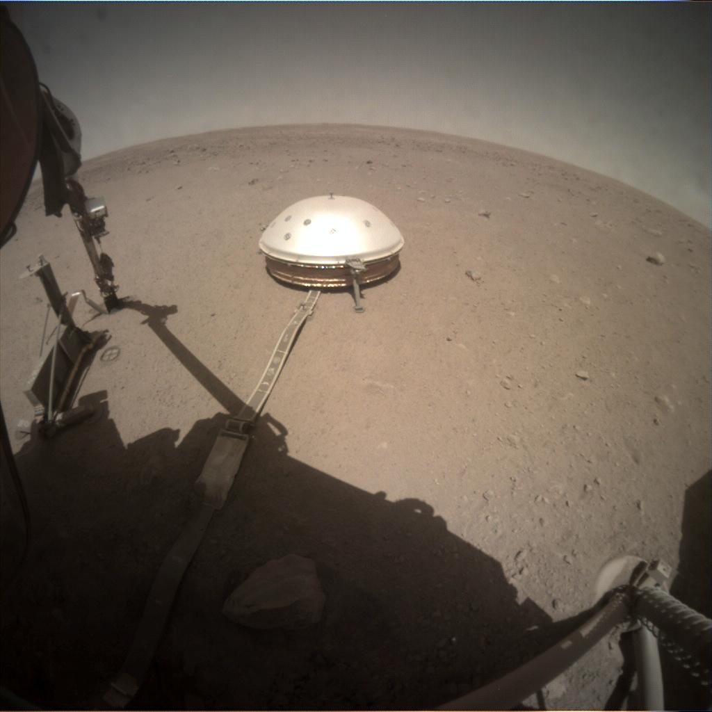 Nasa's Mars lander InSight acquired this image using its Instrument Context Camera on Sol 359