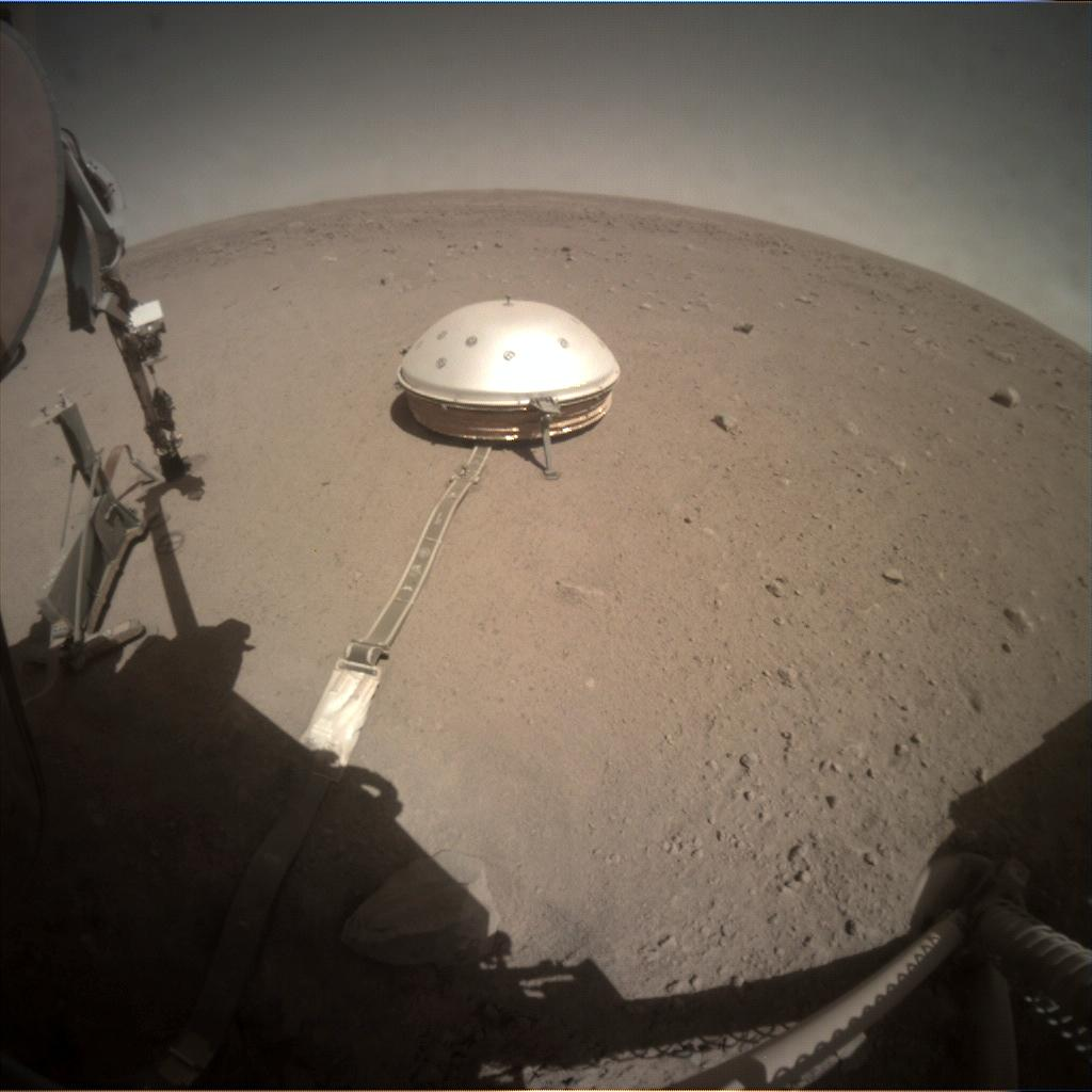 Nasa's Mars lander InSight acquired this image using its Instrument Context Camera on Sol 361