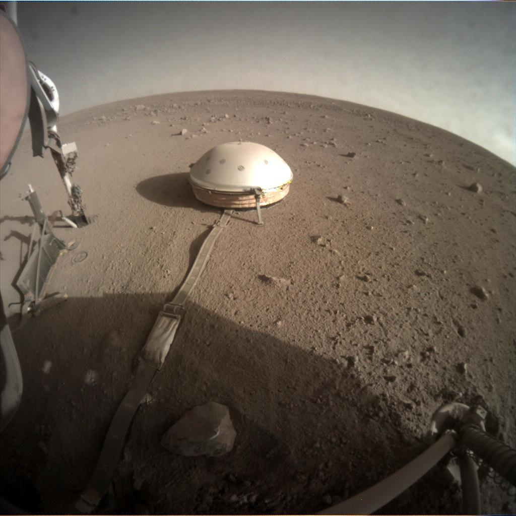 Nasa's Mars lander InSight acquired this image using its Instrument Context Camera on Sol 364