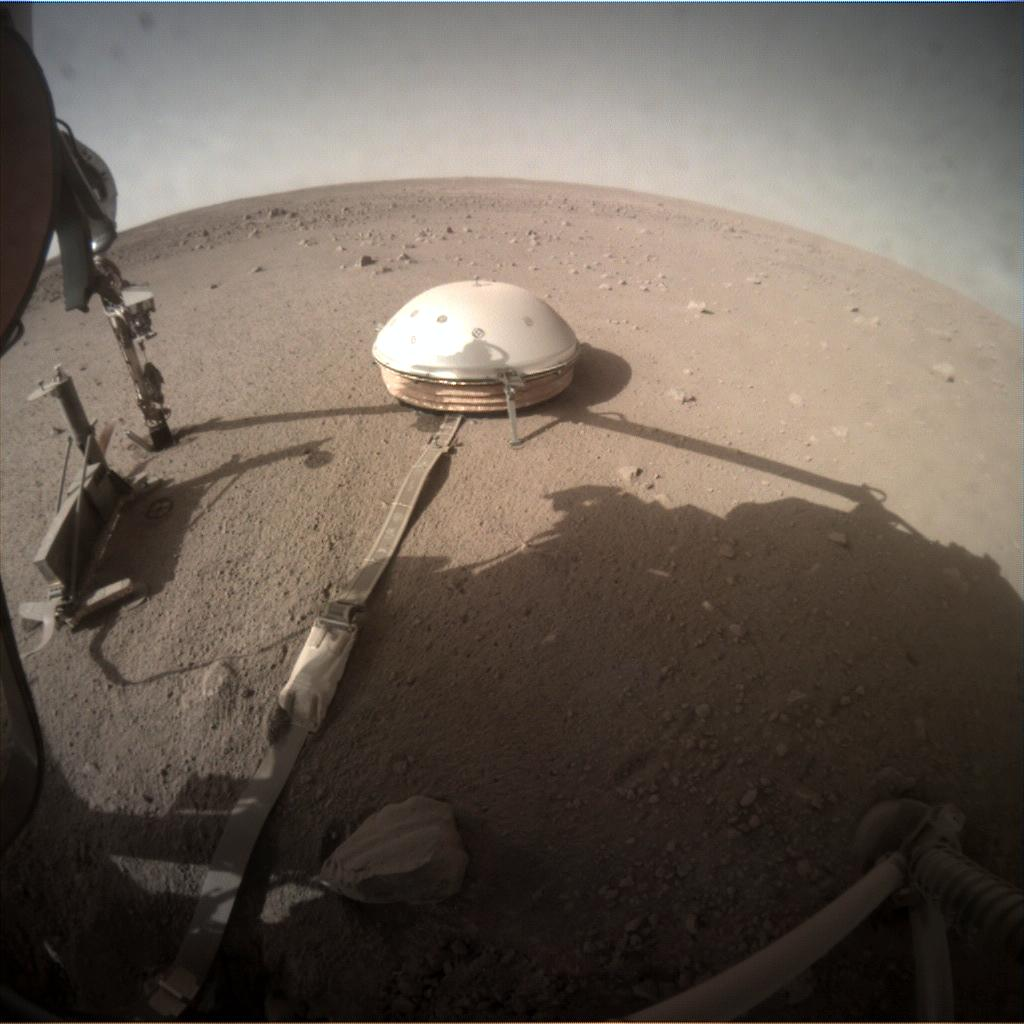 Nasa's Mars lander InSight acquired this image using its Instrument Context Camera on Sol 367