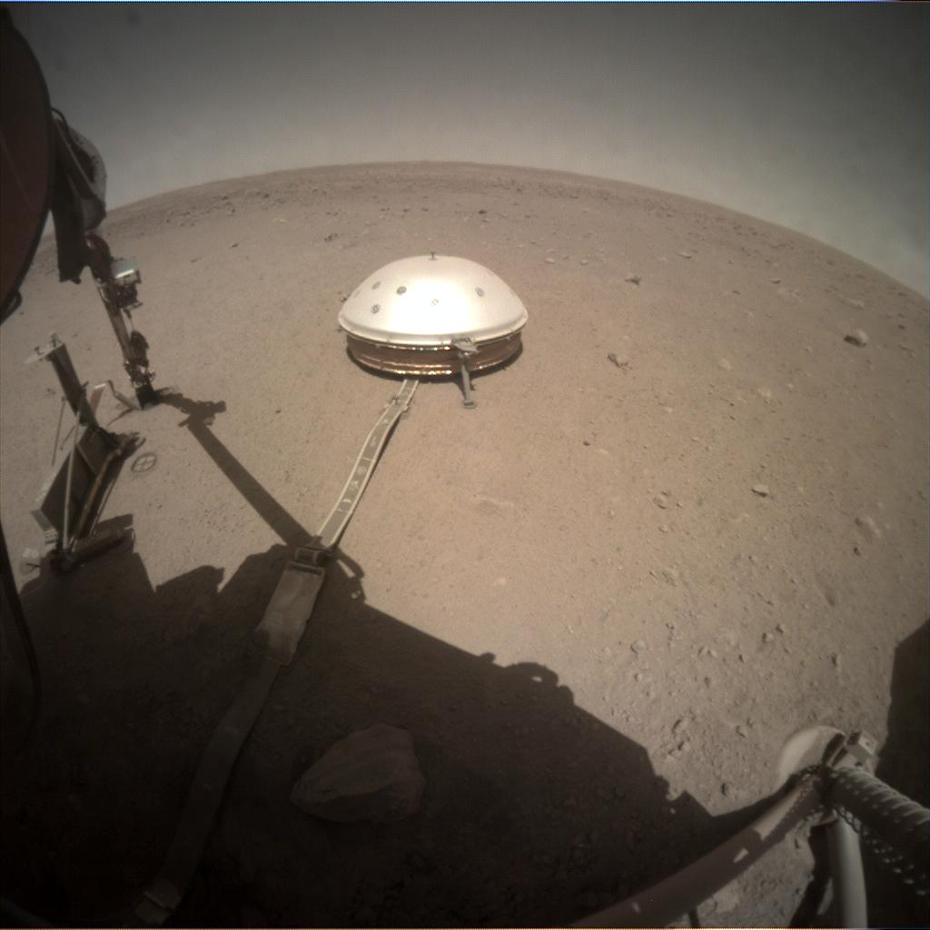 Nasa's Mars lander InSight acquired this image using its Instrument Context Camera on Sol 369