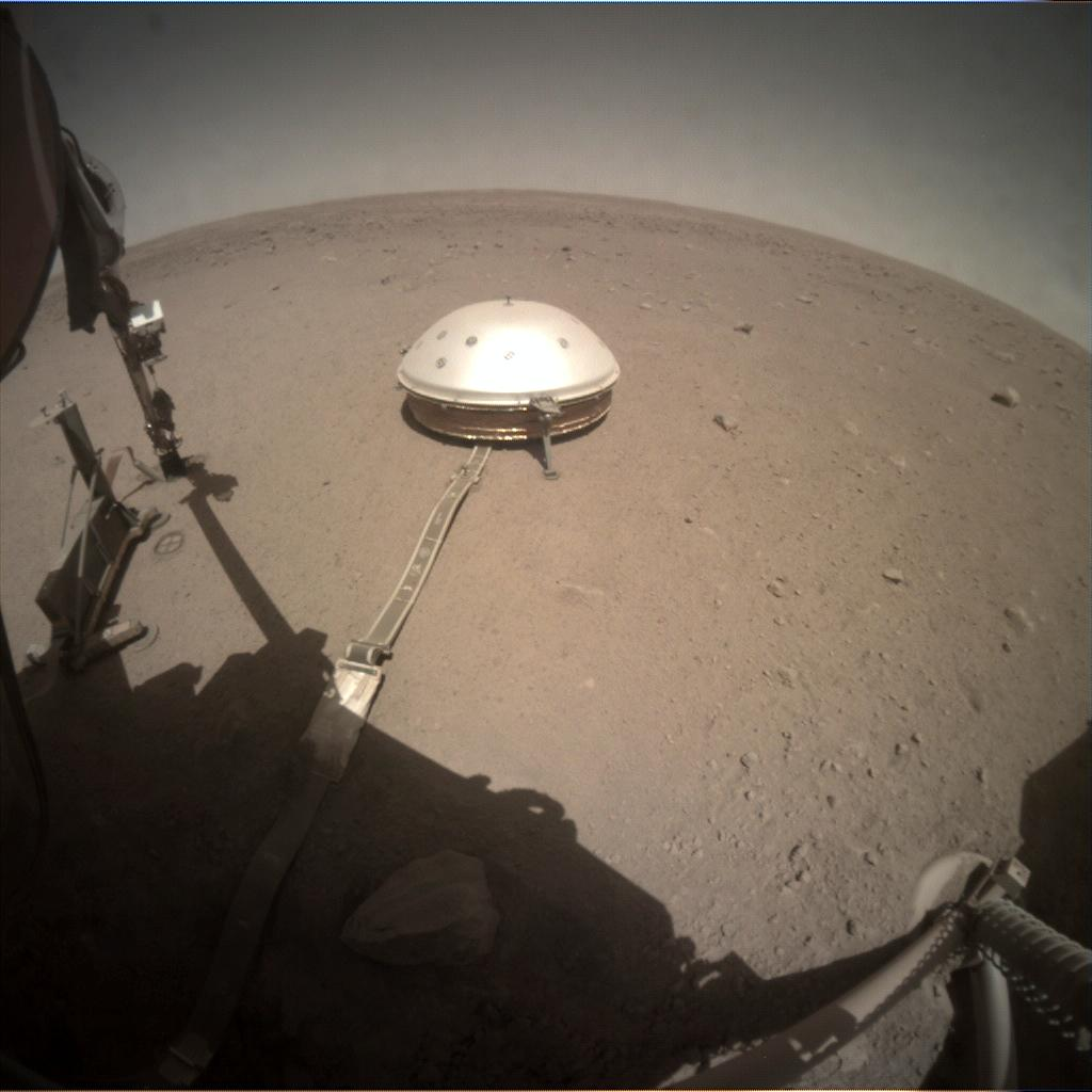 Nasa's Mars lander InSight acquired this image using its Instrument Context Camera on Sol 371