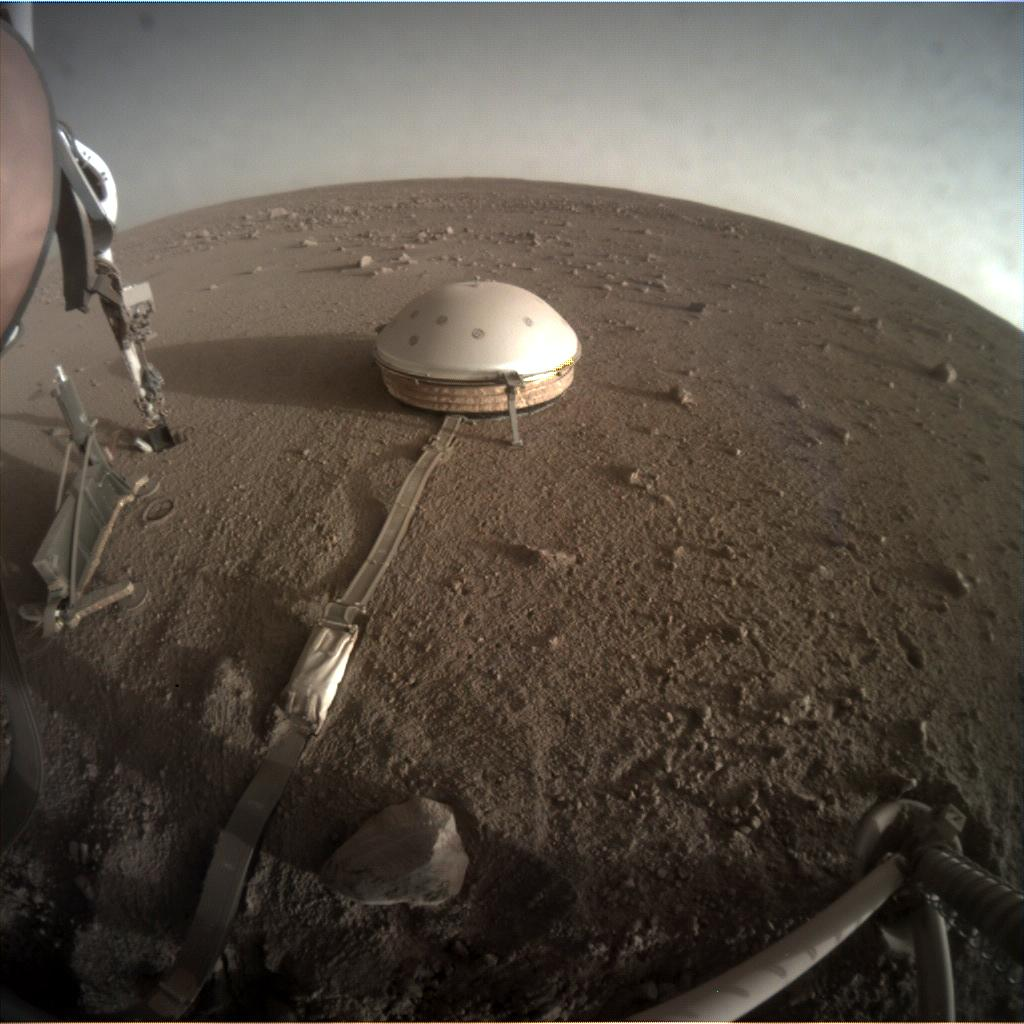 Nasa's Mars lander InSight acquired this image using its Instrument Context Camera on Sol 373