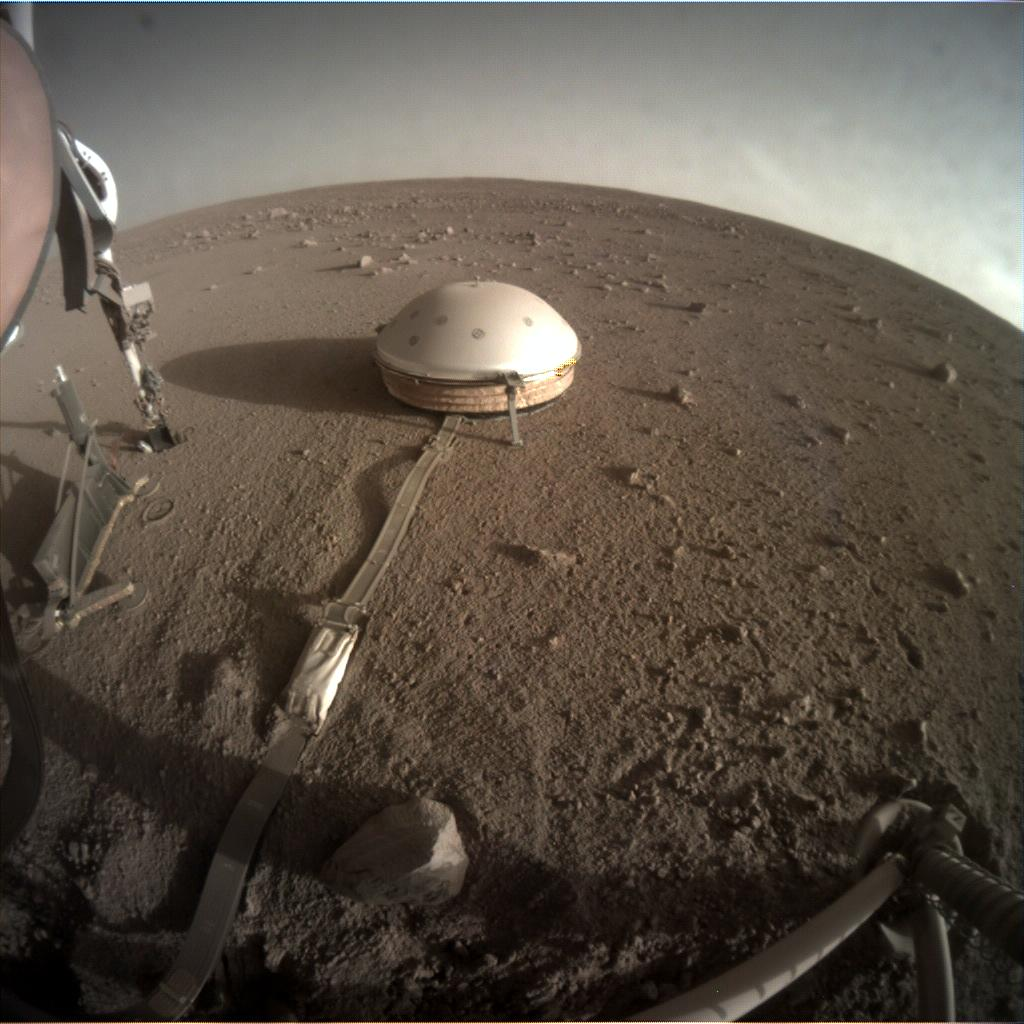 Nasa's Mars lander InSight acquired this image using its Instrument Context Camera on Sol 380