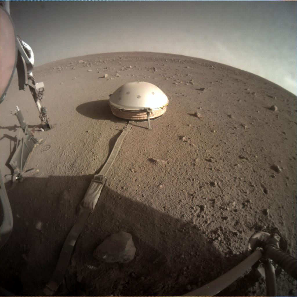 Nasa's Mars lander InSight acquired this image using its Instrument Context Camera on Sol 383