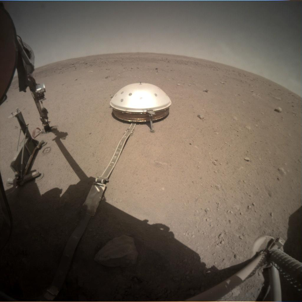 Nasa's Mars lander InSight acquired this image using its Instrument Context Camera on Sol 386