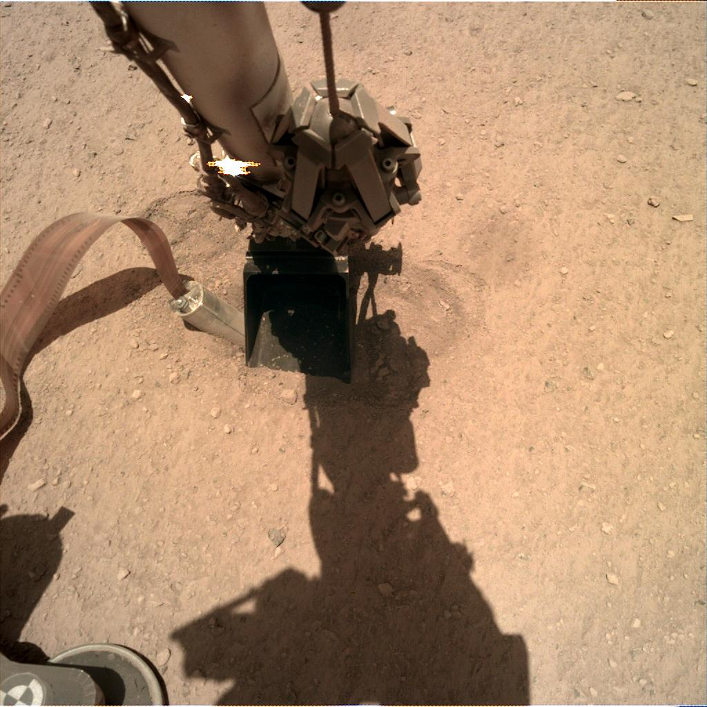 Nasa's Mars lander InSight acquired this image using its Instrument Deployment Camera on Sol 386