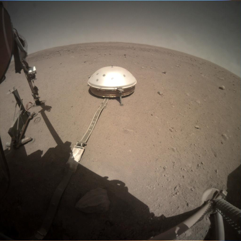 Nasa's Mars lander InSight acquired this image using its Instrument Context Camera on Sol 388