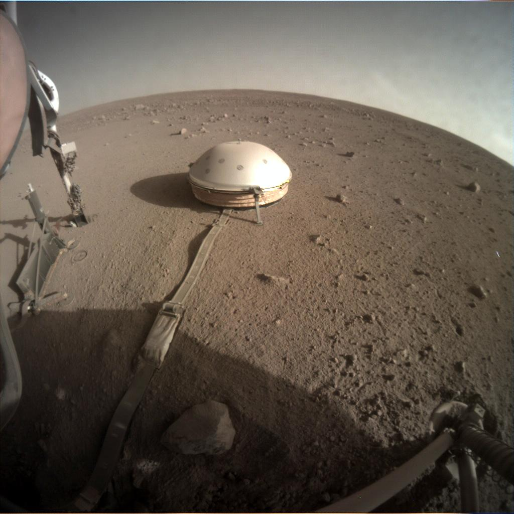 Nasa's Mars lander InSight acquired this image using its Instrument Context Camera on Sol 389
