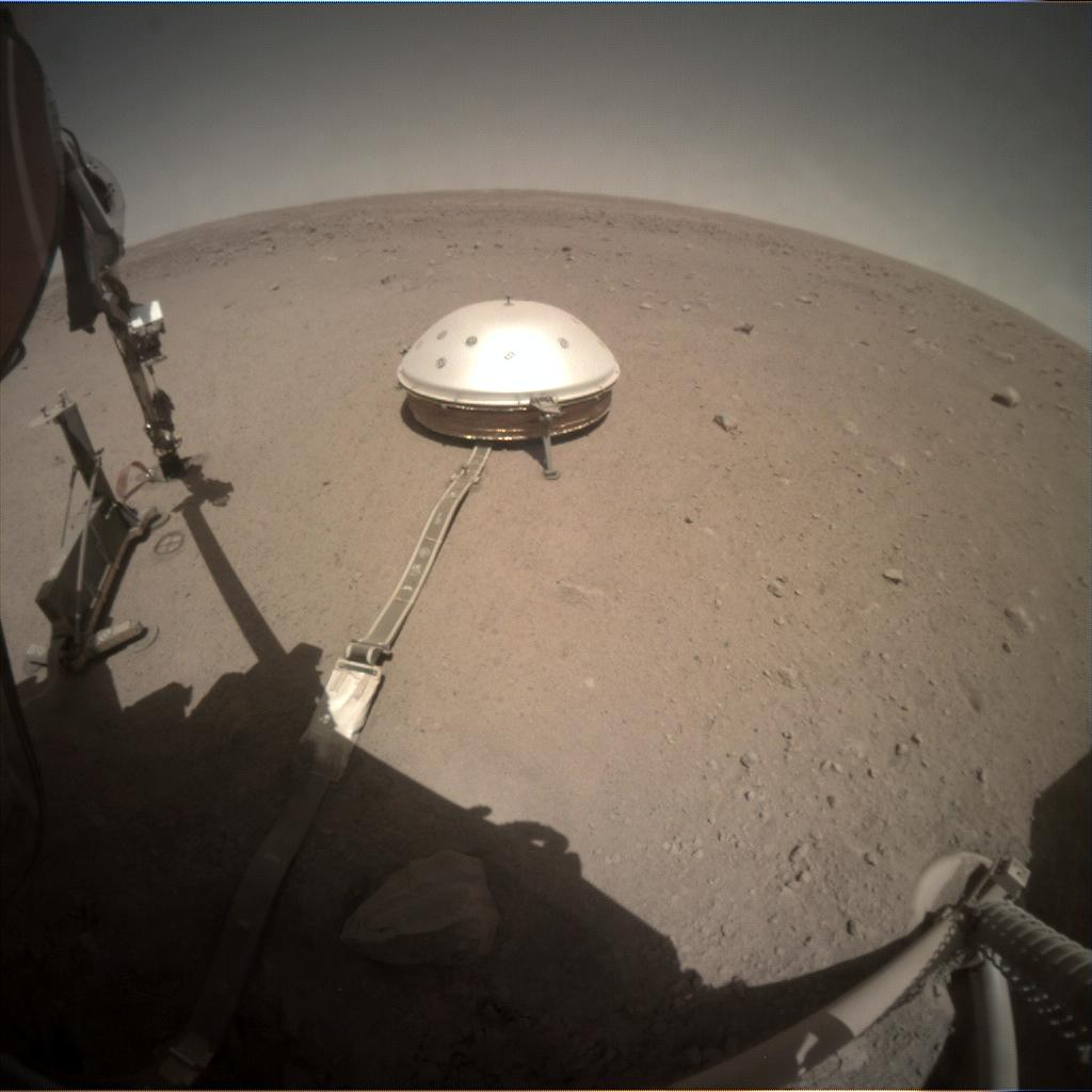 Nasa's Mars lander InSight acquired this image using its Instrument Context Camera on Sol 392