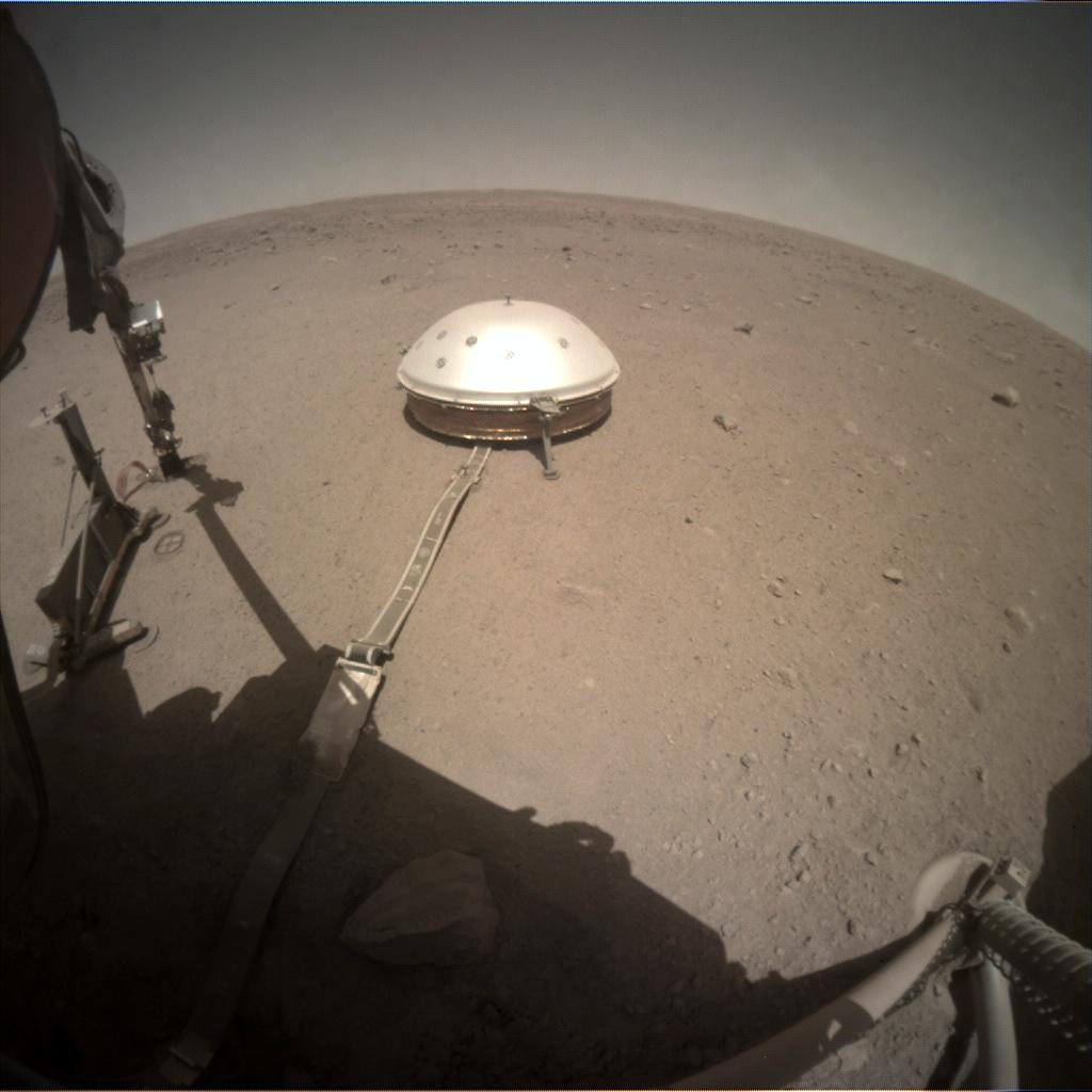 Nasa's Mars lander InSight acquired this image using its Instrument Context Camera on Sol 394