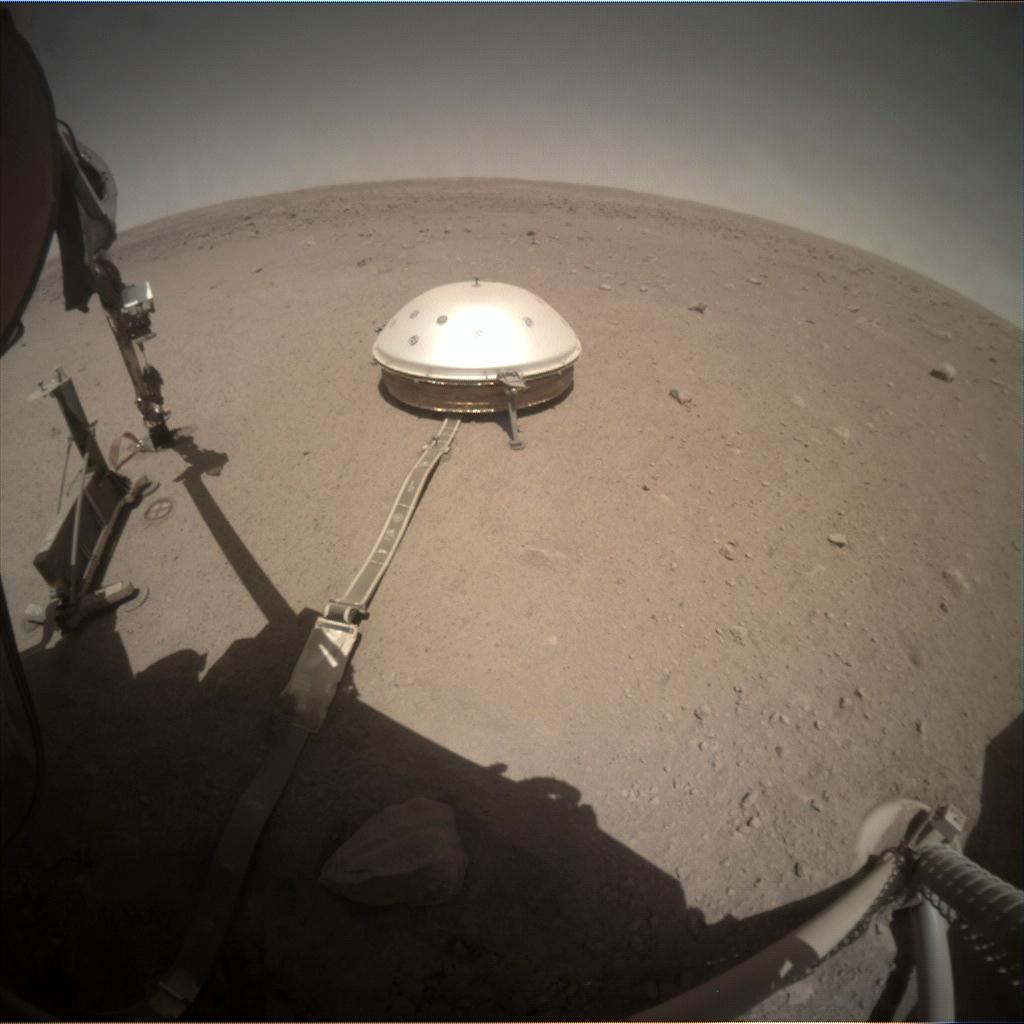 Nasa's Mars lander InSight acquired this image using its Instrument Context Camera on Sol 398