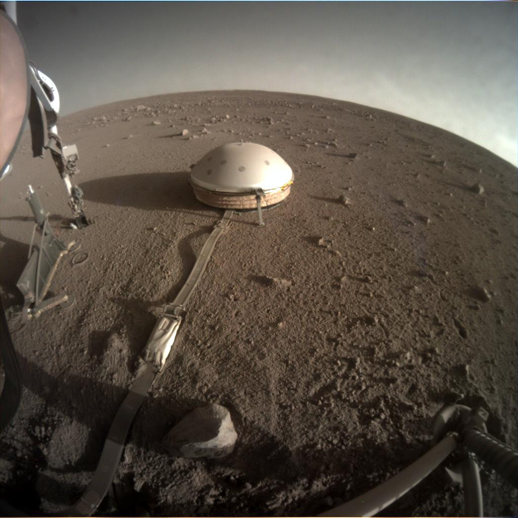 Nasa's Mars lander InSight acquired this image using its Instrument Context Camera on Sol 400