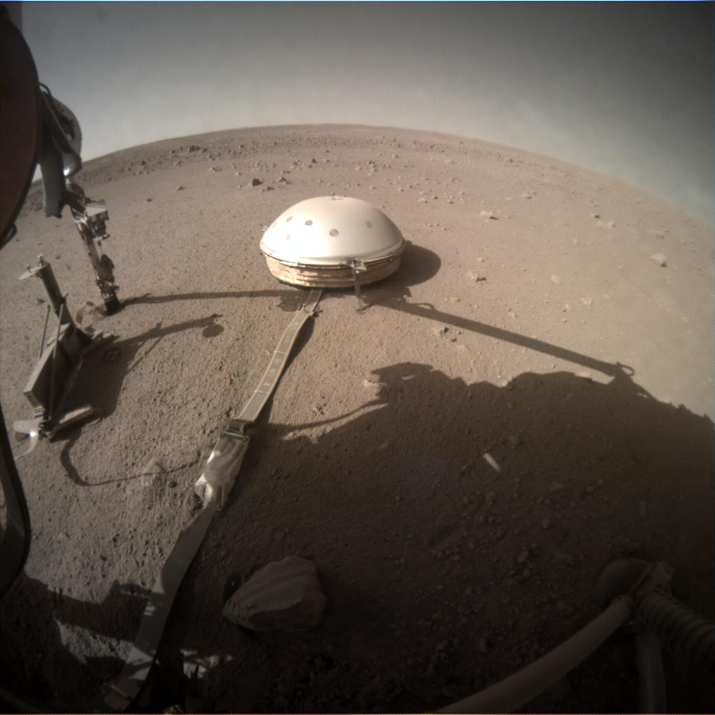 Nasa's Mars lander InSight acquired this image using its Instrument Context Camera on Sol 401