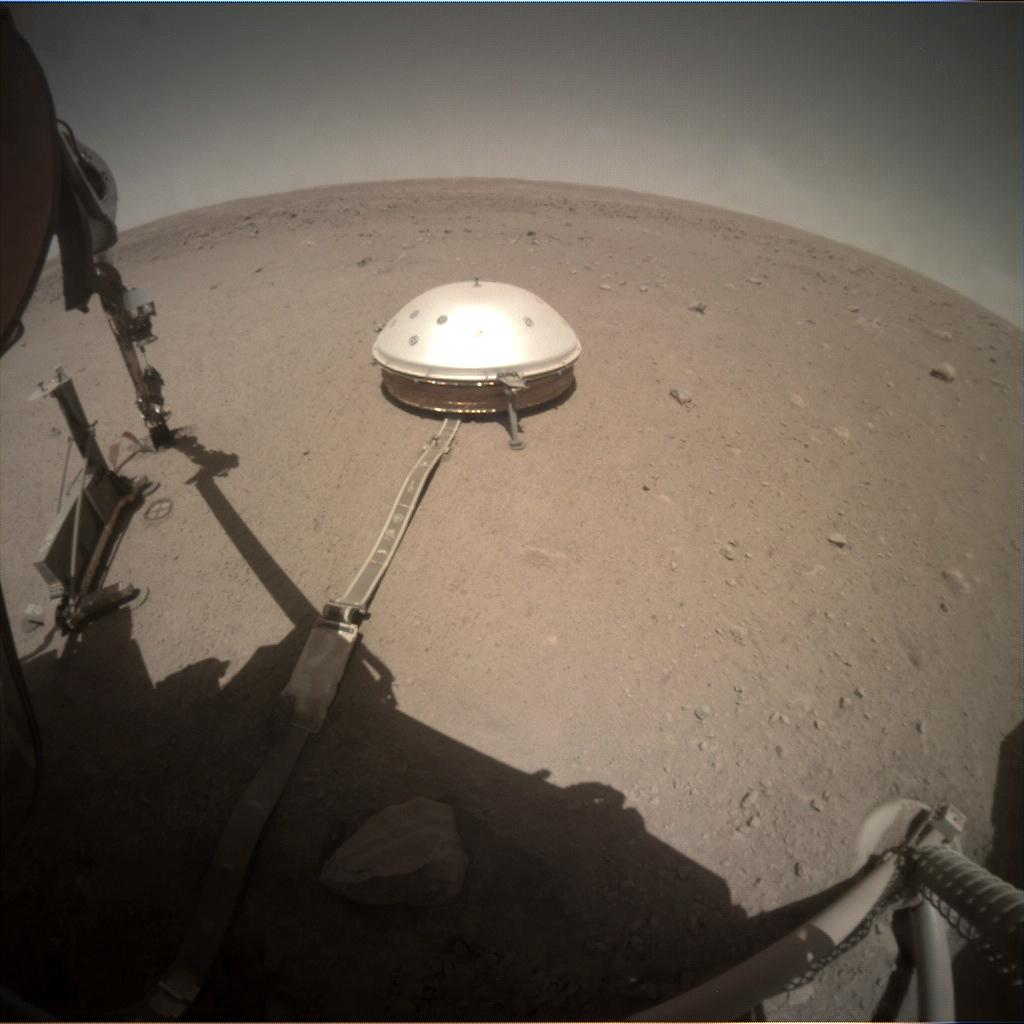 Nasa's Mars lander InSight acquired this image using its Instrument Context Camera on Sol 404