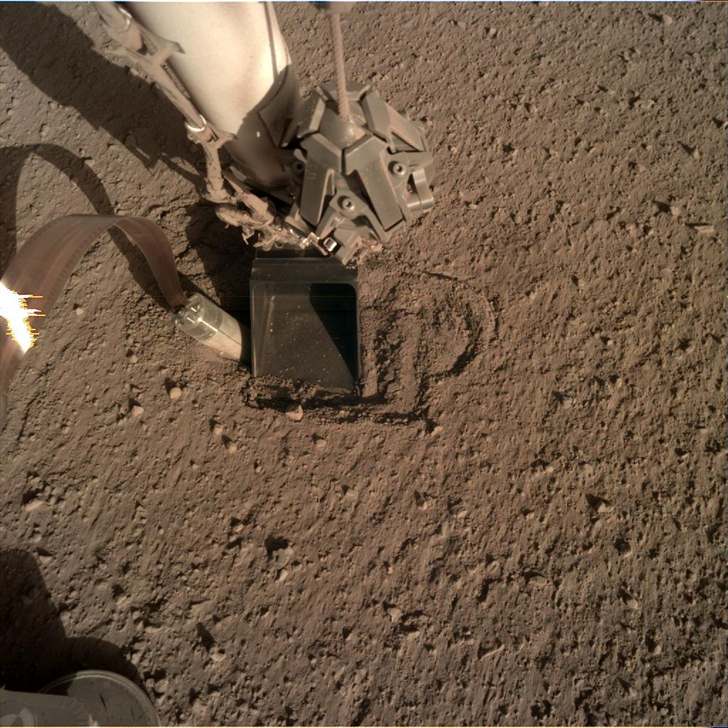 Nasa's Mars lander InSight acquired this image using its Instrument Deployment Camera on Sol 405