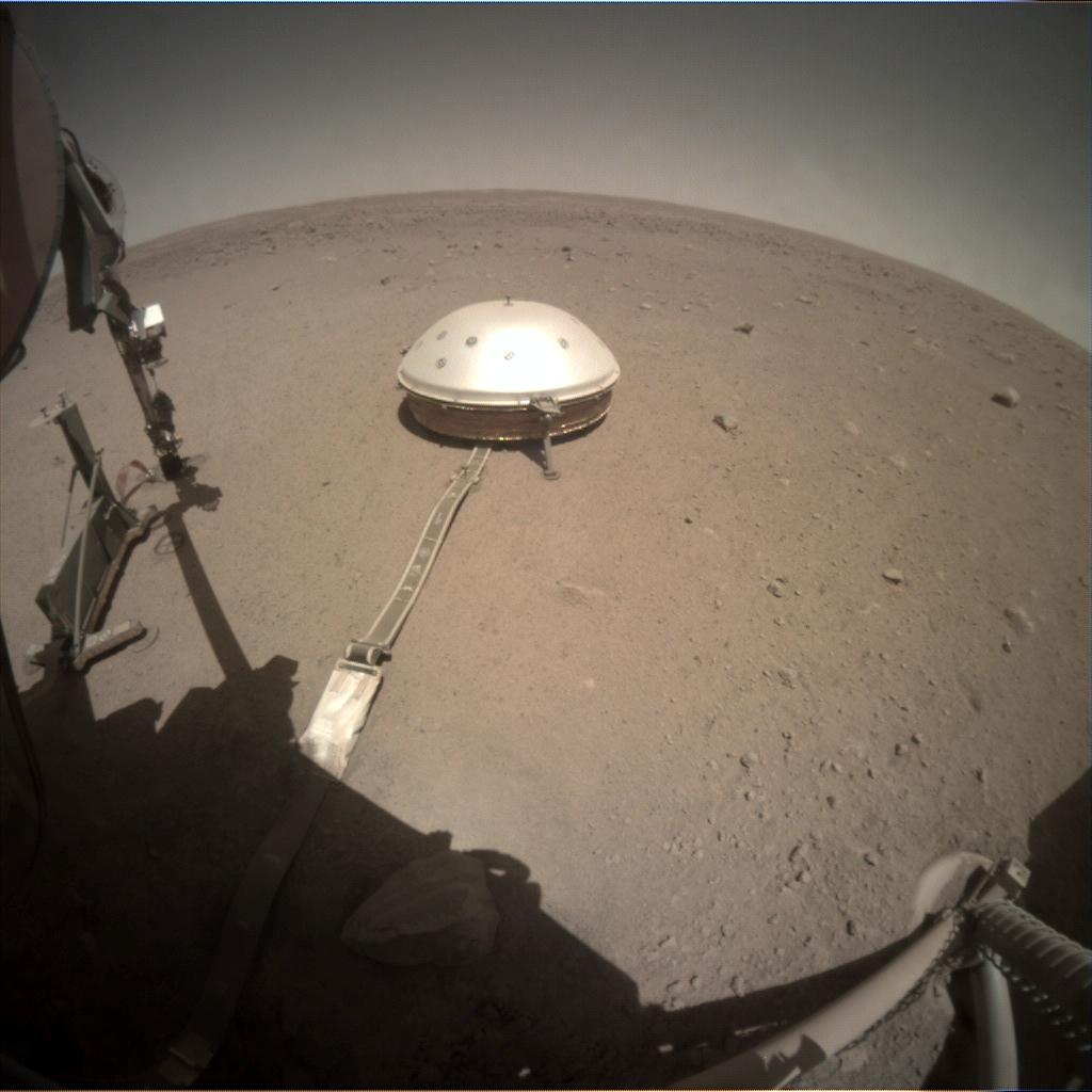 Nasa's Mars lander InSight acquired this image using its Instrument Context Camera on Sol 406