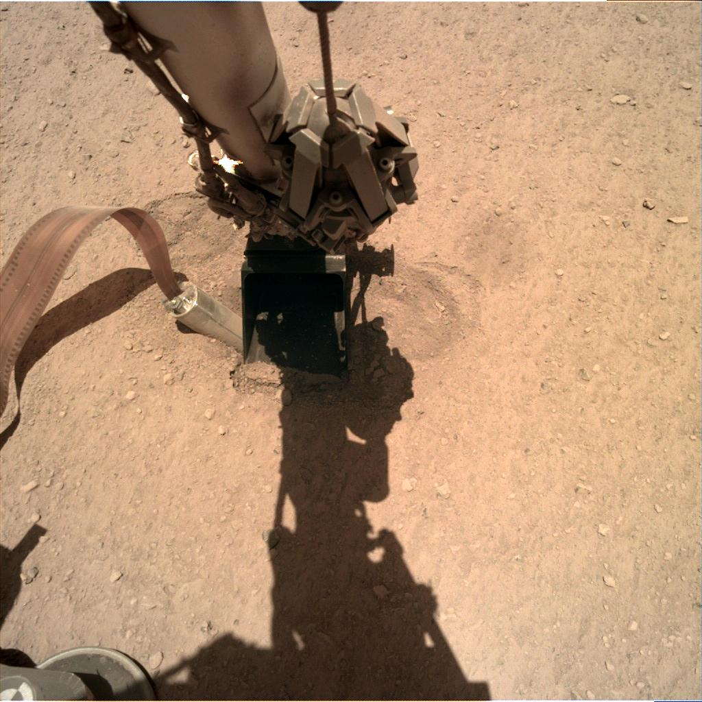 Nasa's Mars lander InSight acquired this image using its Instrument Deployment Camera on Sol 406