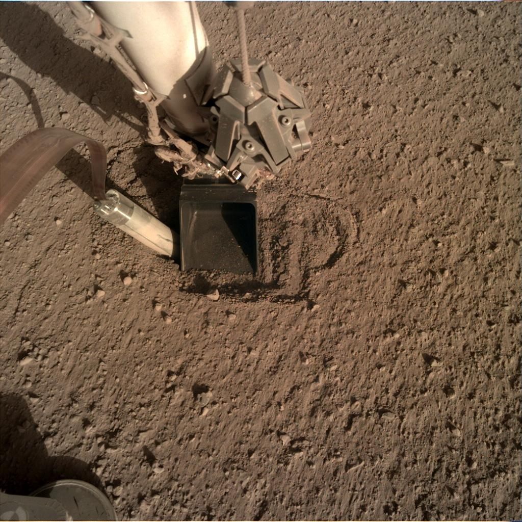 Nasa's Mars lander InSight acquired this image using its Instrument Deployment Camera on Sol 408