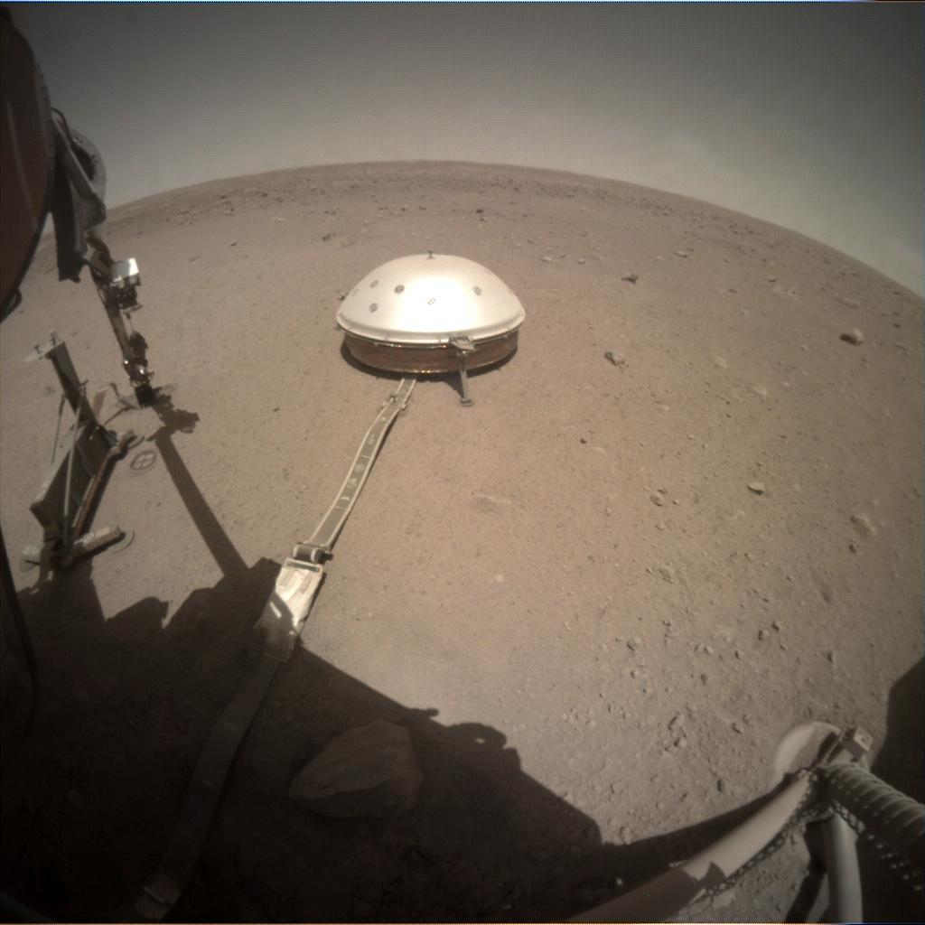 Nasa's Mars lander InSight acquired this image using its Instrument Context Camera on Sol 409