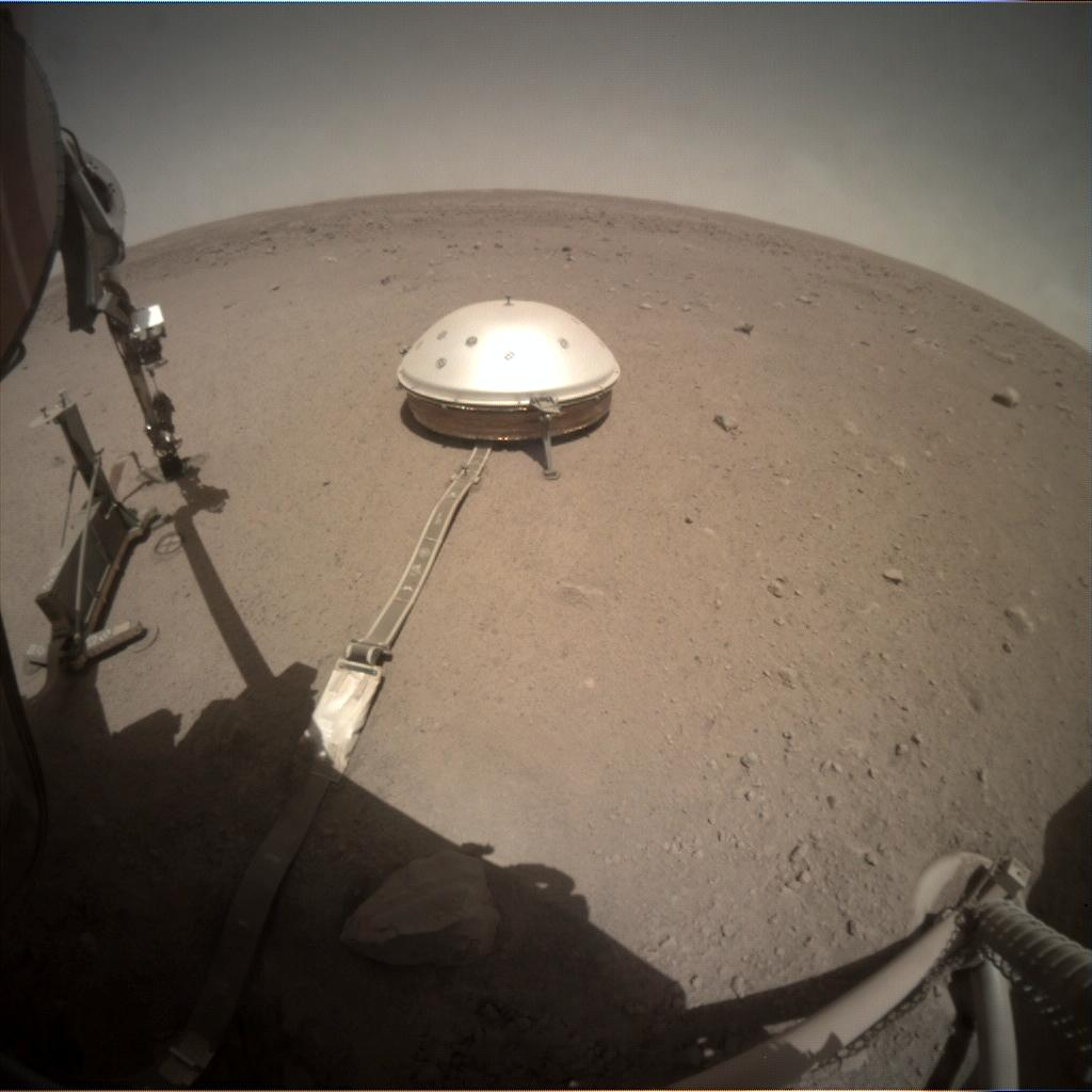 Nasa's Mars lander InSight acquired this image using its Instrument Context Camera on Sol 413