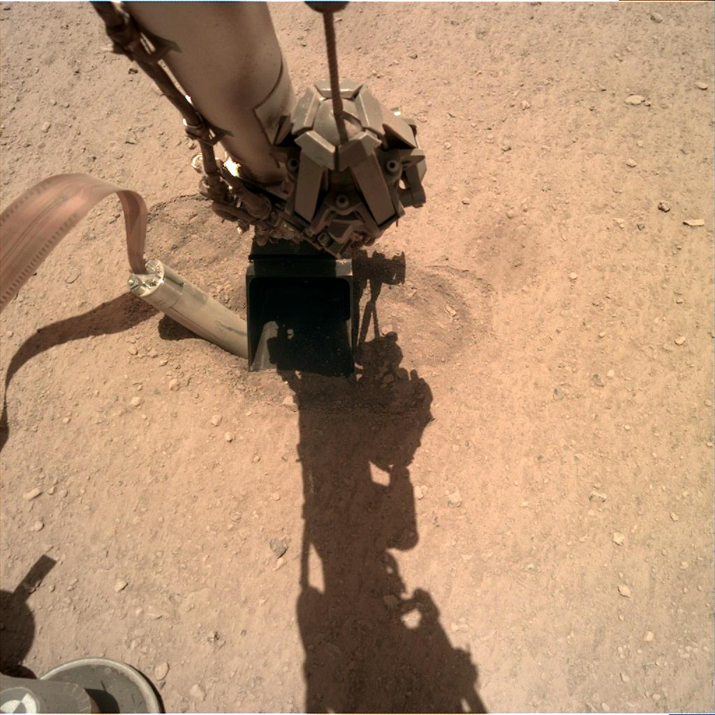 Nasa's Mars lander InSight acquired this image using its Instrument Deployment Camera on Sol 414