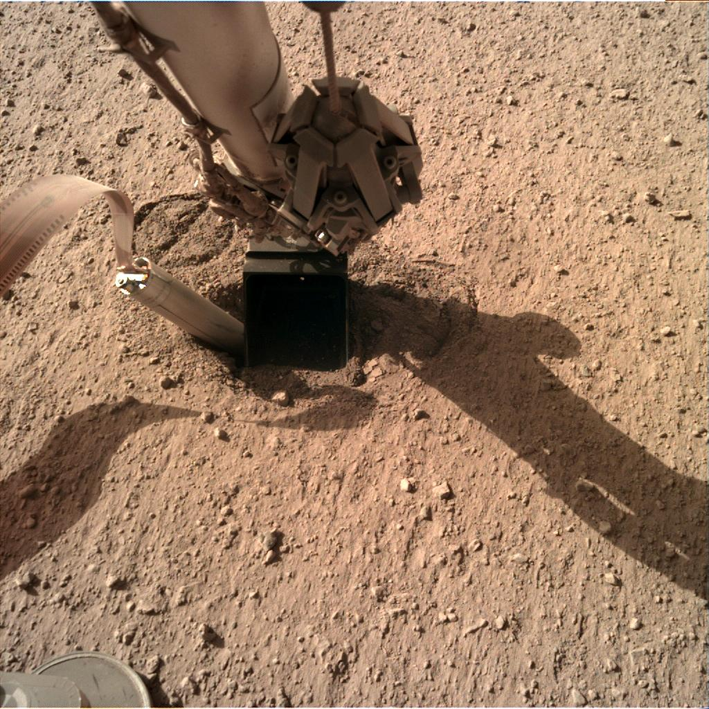 Nasa's Mars lander InSight acquired this image using its Instrument Deployment Camera on Sol 415