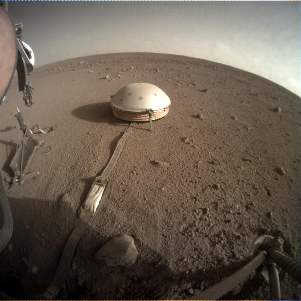 Nasa's Mars lander InSight acquired this image using its Instrument Context Camera on Sol 418