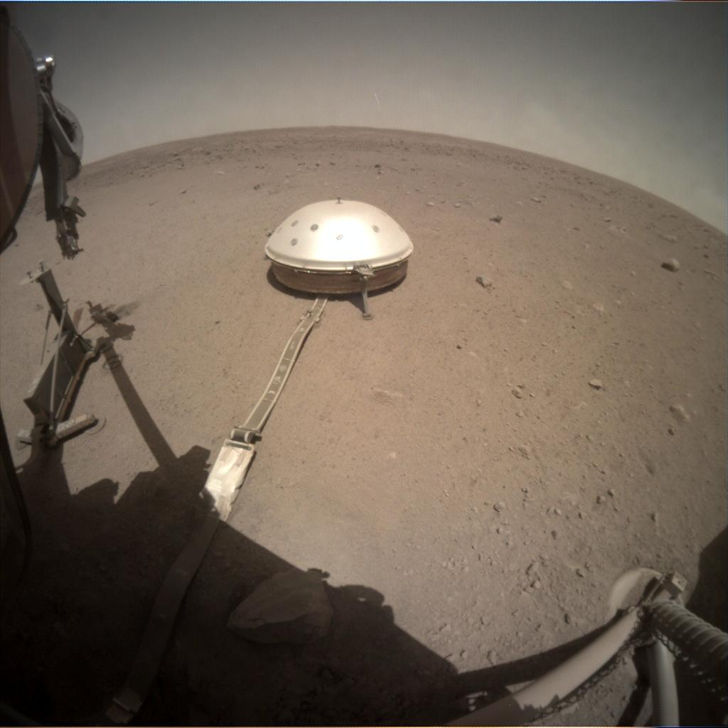 Nasa's Mars lander InSight acquired this image using its Instrument Context Camera on Sol 419
