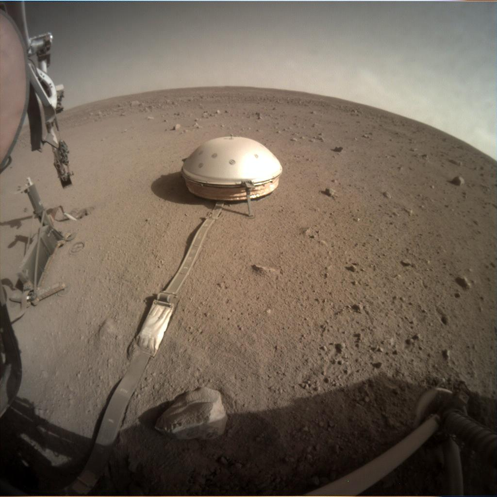 Nasa's Mars lander InSight acquired this image using its Instrument Context Camera on Sol 420