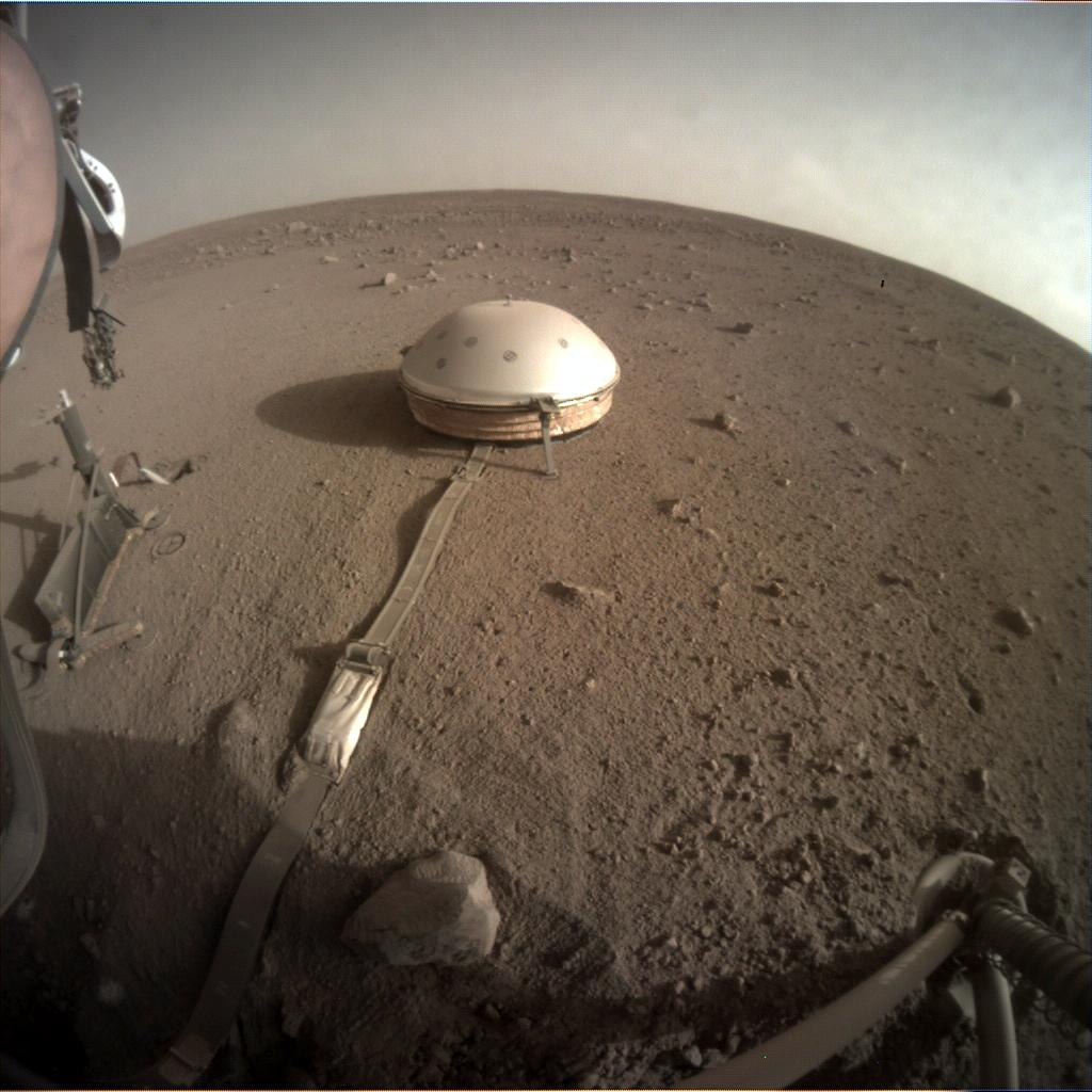 Nasa's Mars lander InSight acquired this image using its Instrument Context Camera on Sol 423