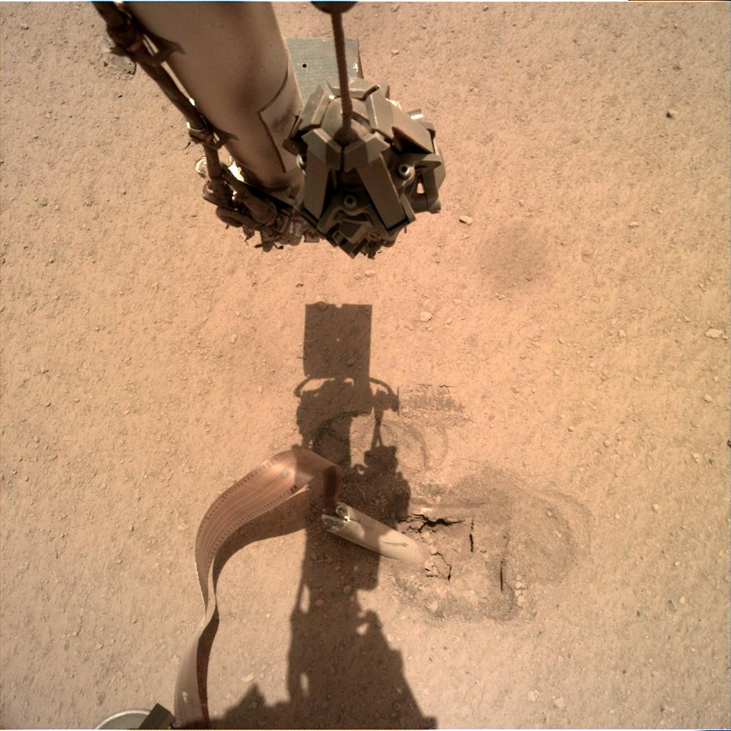 Nasa's Mars lander InSight acquired this image using its Instrument Deployment Camera on Sol 424