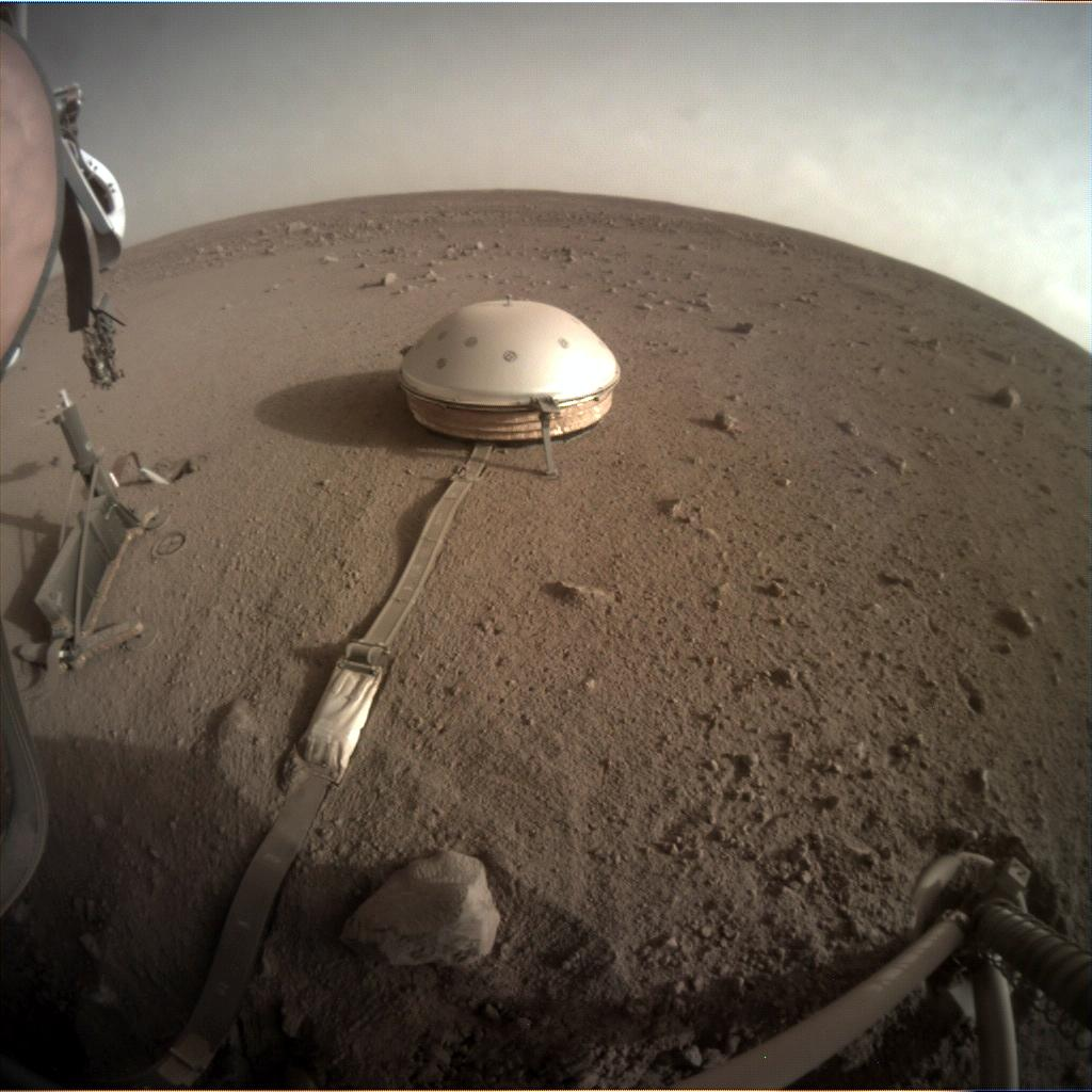 Nasa's Mars lander InSight acquired this image using its Instrument Context Camera on Sol 425