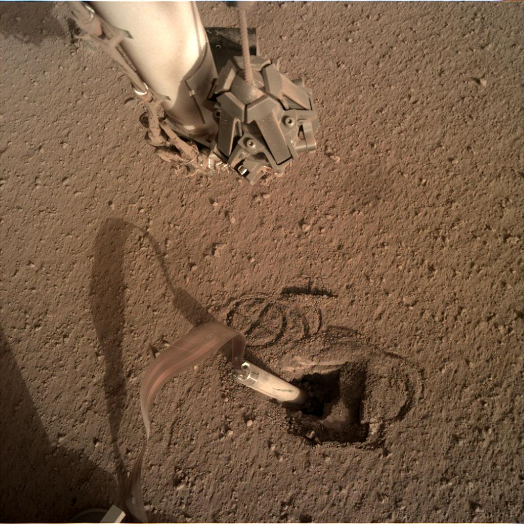 Nasa's Mars lander InSight acquired this image using its Instrument Deployment Camera on Sol 425